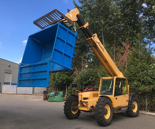 Telehandler Bin by Site Machinery